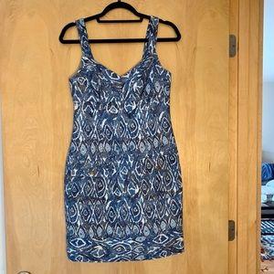 MAGGY L blue Aztec design dress